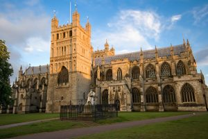 Cathedral in Exeter England