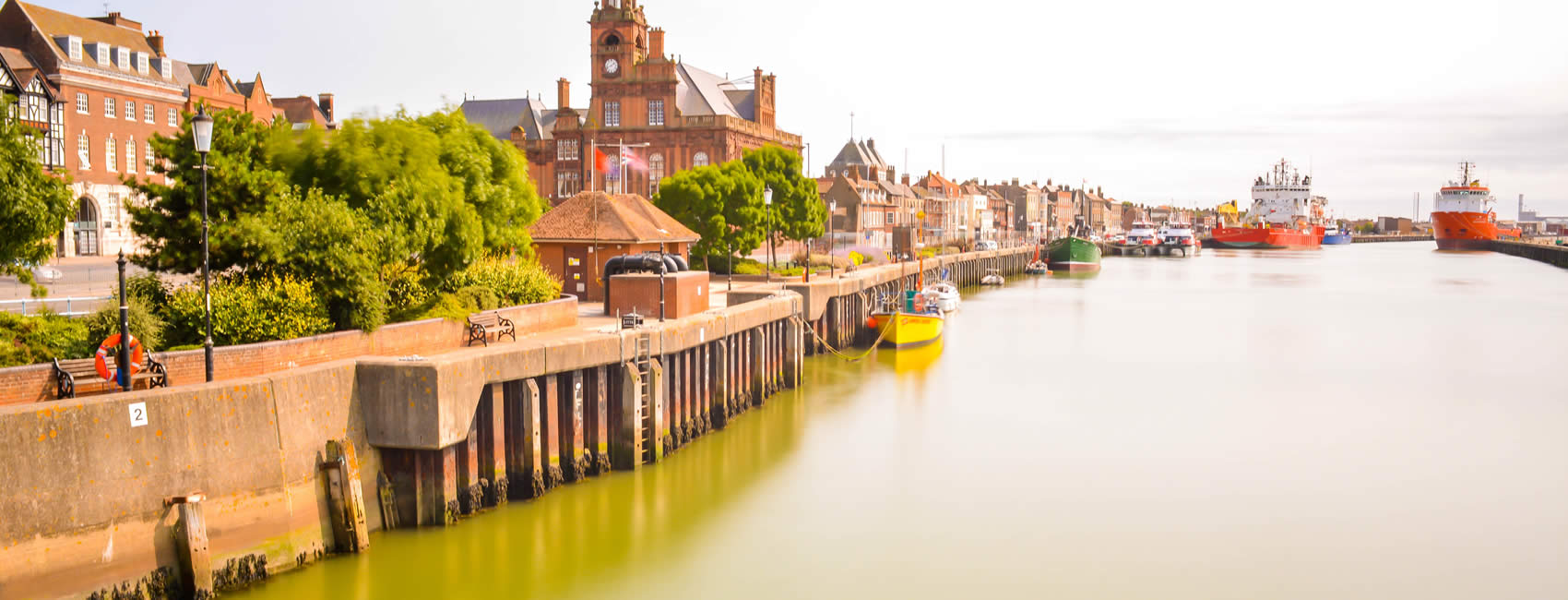 the harbour of Great Yarmouth in Norfolk