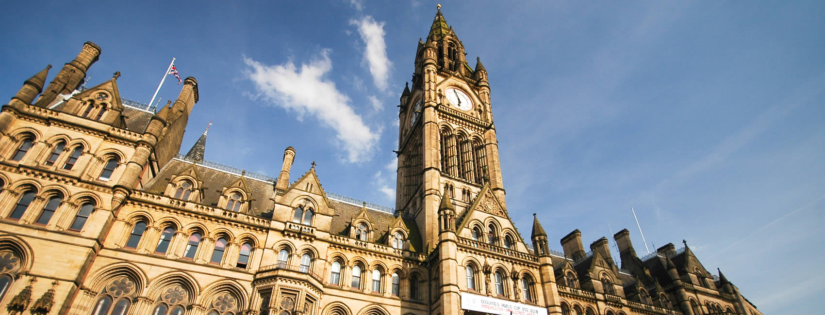 the city hall in central Manchester