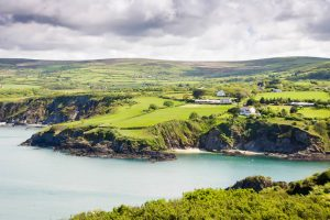 Newport houses and cliffs in Wales