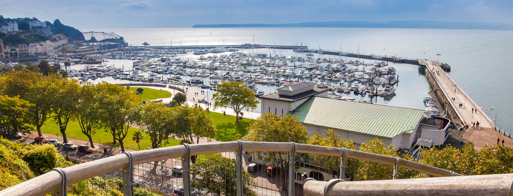 The harbour and marina of Torquay in Devon