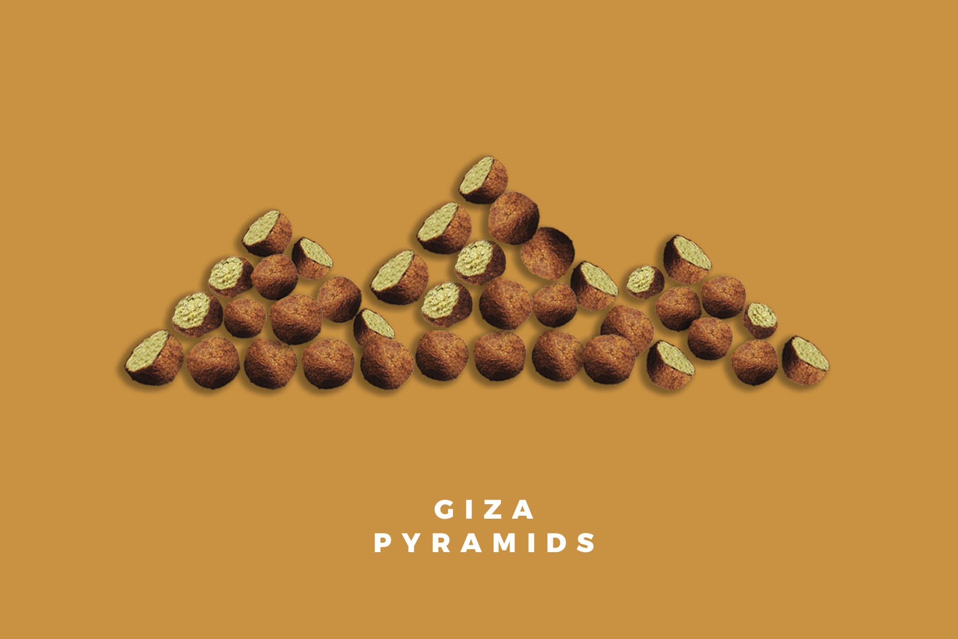 Giza Pyramids in Egypt falafel food illustration