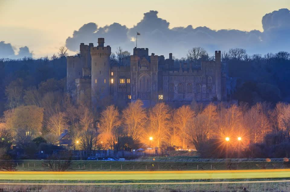 Arundel Castle in the evening