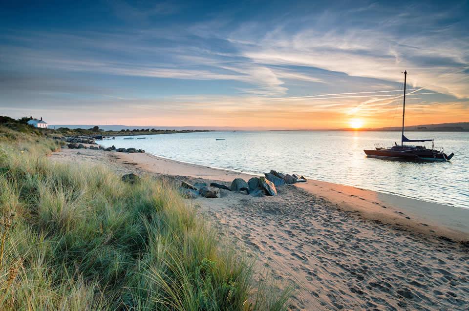 Crow Point beach and sea near Barnstaple