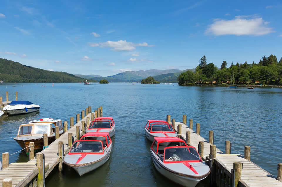 Lake Windermere Boats and Pier